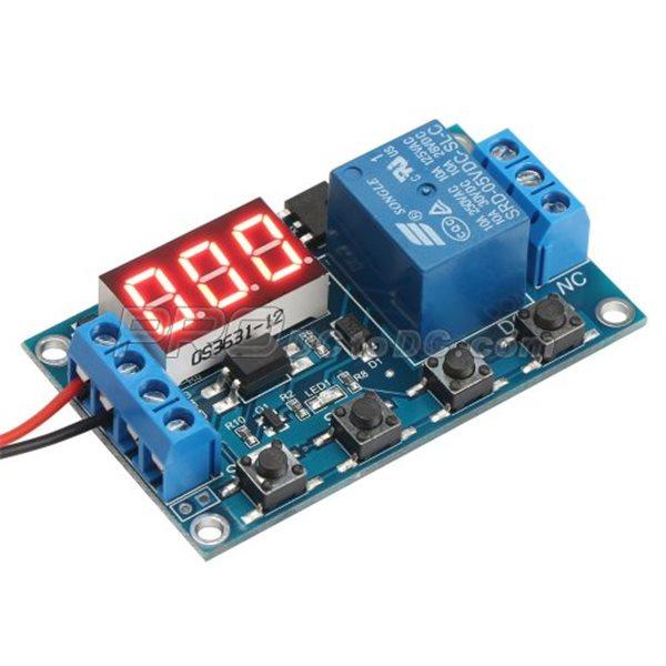 LED DC 5V 12V 24V Delay Time Turn On//off Cycle Timer Relay Signal Trigger Switch
