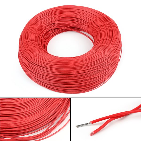 1 meter 22 AWG Electric cable RED WIRE ,UL1007 - Mikroelectron ...