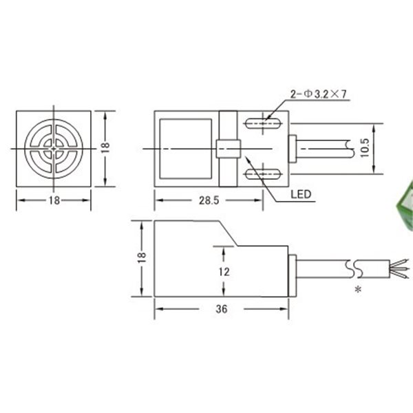 inductive proximity sensor sn04-n npn 3-wire no 6-36v dc
